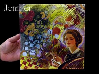 Thow a little paint by Jennifer