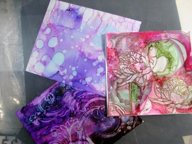 Alcohol Ink Manipulations